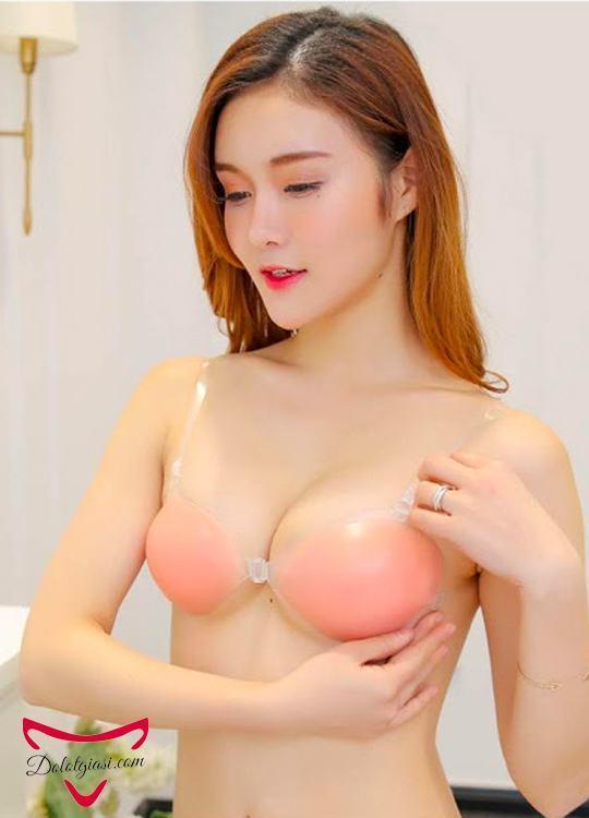 Áo ngực silicon dán có dây trong suốt