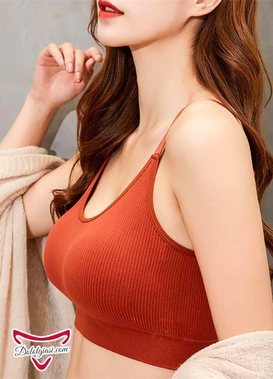 Áo bra cotton gân tăm lót su cao cấp AB14