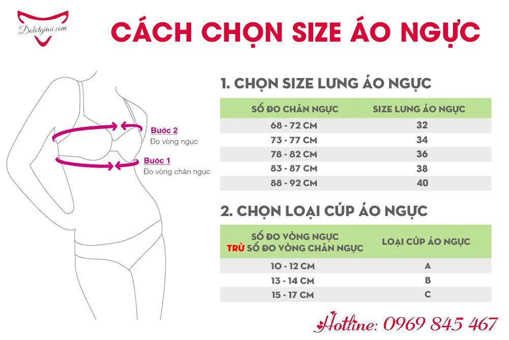 Cách chọn size áo ngực từ số đo